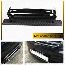 Universal Car Carbon Fiber Number License Plate Frame Holder Bracket Adjustable