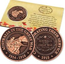 WW1 The Great War Landing Penny - Remembrance Day * ANZAC Day