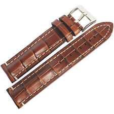 22mm Di-Modell Bali Chrono Tan German Alligator-Grain Leather Watch Band Strap