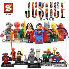 8 pcs/set Super Heros Minifigures Batman Wonder WomanBuilding blocks toys gift