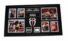 WWE LESNAR REIGNS ROLLINS WRESTLEMANIA 31 FRAMED COMMEMORATIVE PLAQUE VERY RARE