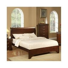 Queen Sleigh Bed Frame Wood Headboard Solid Elegant Furniture Classic Bedroom