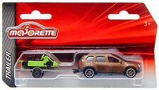 Majorette Trailer Dacia Duster with Kart 1:64 2016 3-inch Toy Car