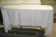 Large Vintage Formal Dinner Size Linen TableCloth 62x100in. EUC