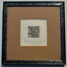 AGNES MILLS EXODUS LIMITED EDITION PRINT-MATTED / FRAMED-3/35-RARE