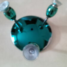 Surface Mounted Brushed  Turquoise, Steel Trio Plate Spotlight,