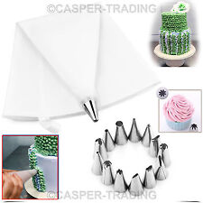24 Pcs Cake Decorating Icing Piping Nozzle Bag Tool Set Cupcake Sugercraft Cup