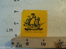 STICKER,DECAL RADIO SANTIAGO ZEILSCHIP SHIP BOOT NOT 100 % OK