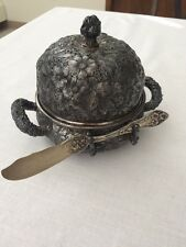 Victorian Silverplate Repousse Butter Dish