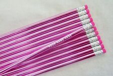 "12 Super Rich ""Light Pink"" Foil Colored Personalized Pencils"