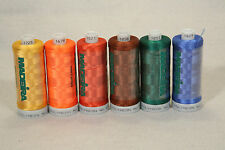 LOT POLYESTER SEWING POLYNEON EMBROIDERY THREAD MADEIRA 6 sm SPOOLS MIXED COLORS