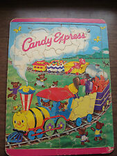 Vintage Candy Express Frame Tray Puzzle Saalfield 1940's Choo Choo Train