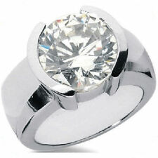 2.02 carat Round cut DIAMOND Engagement Solitaire Men 14k White Gold Ring G SI2