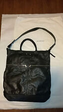 Balenciaga Signature Creased Leather Arena Two Way Tote Bag Large Black
