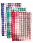 COTTON RICH KITCHEN TEA TOWELS CLEANING CLOTH DISH DRYING, PACK OF 4 TOWELS