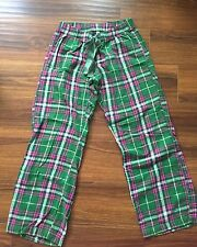Old Navy Pajama Bottoms- Pink and Green Cotton Plaid Print- Size S
