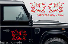 Welsh Dragon Stickers Wales Cymru Vinyl Car laptop Wall Art Decals Graphic V2L