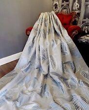 LAURA ASHLEY curtains MANHATTAN leaf smoke Silver Grey SILK mix Jacquard HUGE!