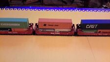 Ho 5 unit csxt sealand stack gunderson well cars with walthers containers