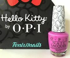 New! OPI HELLO KITTY NL H87 SUPER CUTE IN PINK magenta pink nail polish color