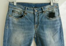R13 Womens Blue Skinny Jeans Light Wash Destressed Size 31 RUNS SMALL