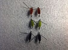 6 Fly Fishing Sinking Bully Spiders Flies Assortment #7 Hooks Bluegill Panfish
