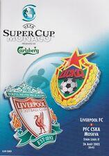 LIVERPOOL v CSKA MOSCOW SUPER CUP 2005 MINT PROGRAMME