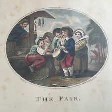 Gravure Eau Forte THE FAIR Bartolozzi Deb XIXè Etching 19thC Aquatinte Encadré