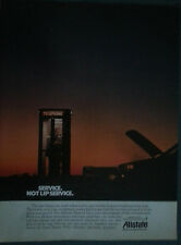 1988 Allstate Insurance Telephone Booth Call Color Original Ad