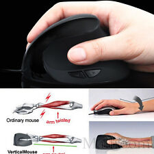 Wired Ergonomisch Maus Vertical Optisch USB Mouse Wrist Healing Laptop PC Maus