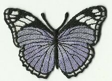 ECUSSON PATCHE PATCH THERMOCOLLANT PAPILLON VIOLET CLAIR ET NOIR 7 X 5 CMS