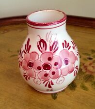 Delft Holland Small Vase - RARE! Red Delft FREE SHIP
