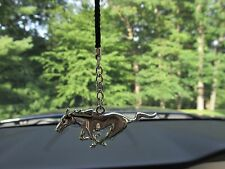 Chrome Mustang Running Horse Rear View Mirror Dangler Tree Ornament Broncos SMU