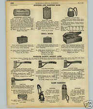 1922 PAPER AD Marbles Safety Pocket Axe Axes Hunting Hatchet Head Camp