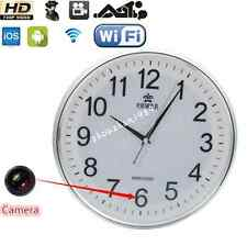 HD 1280X720 WiFi Wall Clock Camera P2P IP DVR Security Nanny Cam for IOS Android