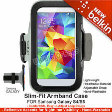 BELKIN  SLIM-FIT ARMBAND FOR SAMSUNG GALAXY S5 S4 S4 ACTIVE S3 BLACK NEW F8M919