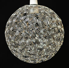 MOROCCAN STYLE SILVER PENDANT BALL CEILING LIGHT SHADE