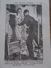 Original 1934 Print / Book Illustration CB BOWMAR THE PRINCE'S DOUBLE