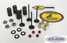 KibbleWhite Black Diamond Valves w/ Spring Kit and Guides Suzuki LT Z400 DR Z400