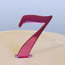 Numero 7 Sceneggiatura Rosa Specchio Acrilico Decorazione Torta Circa 6cm-4cm