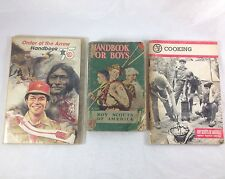 vtg BSA Book Lot Boy Scouts America Handbook Order of Arrow Merit Badge Eagles +