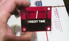 crane claw arcade timer/credit plexi sign part