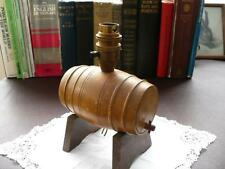 Vintage Wood Shape Barrel lamp Stand - Turned Wood Barrel - Vintage Lampstand