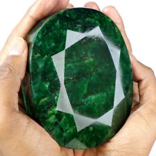 CERTIFIED 3775 CT 100%NATURAL MUSEUM SIZE GREEN EMERALD OVAL FACETED GEMSTONE5