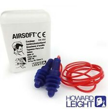 1 Pair Reusable HOWARD LEIGHT by Honeywell Ear Plugs  Airsoft Corded Earplugs