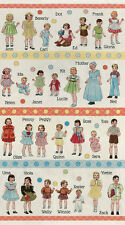 """Moda FABRIC Quilt Panel ~ HOP, SKIP AND A JUMP! ~ by American Jane 24"""" X 45"""""""