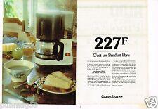 Publicité advertising 1983 (2 pages) La Cafetière electrique Carrefour