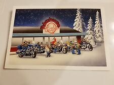 HARLEY DAVIDSON CHRISTMAS CARDS #X429 HANGING OUT AT THE POLAR HOUSE. (10)