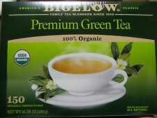 GREEN TEA BAGS BIGELOW 100% CERTIFIED ORGANIC NATURAL GLUTEN FREE ANTIOXIDANTS