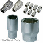 "All Sizes 1/2"" 3/8"" 1/4"" Drive Socket Sockets Sizes Hex Metric Nut Bolt Square"